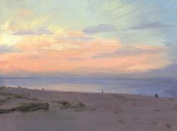 RichardsKim_Sunset Over the Ocean_oil