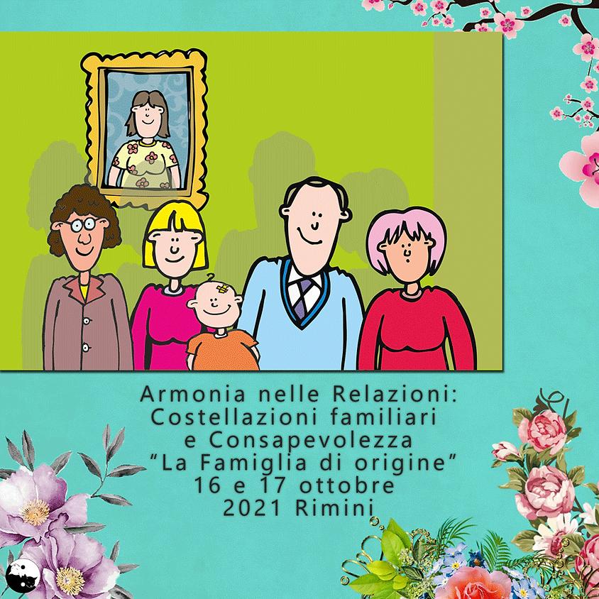 """16-17/10/2021 Costellazioni familiari """"la famiglia di origine"""" a cura di Monica Colosimo"""