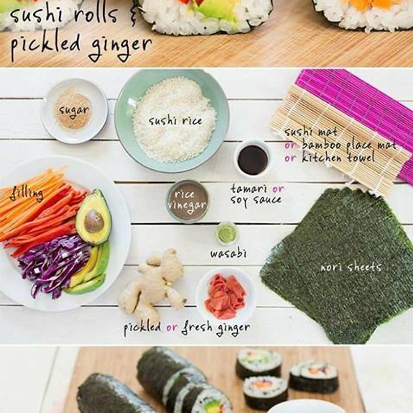 Cena e corso di sushi vegano