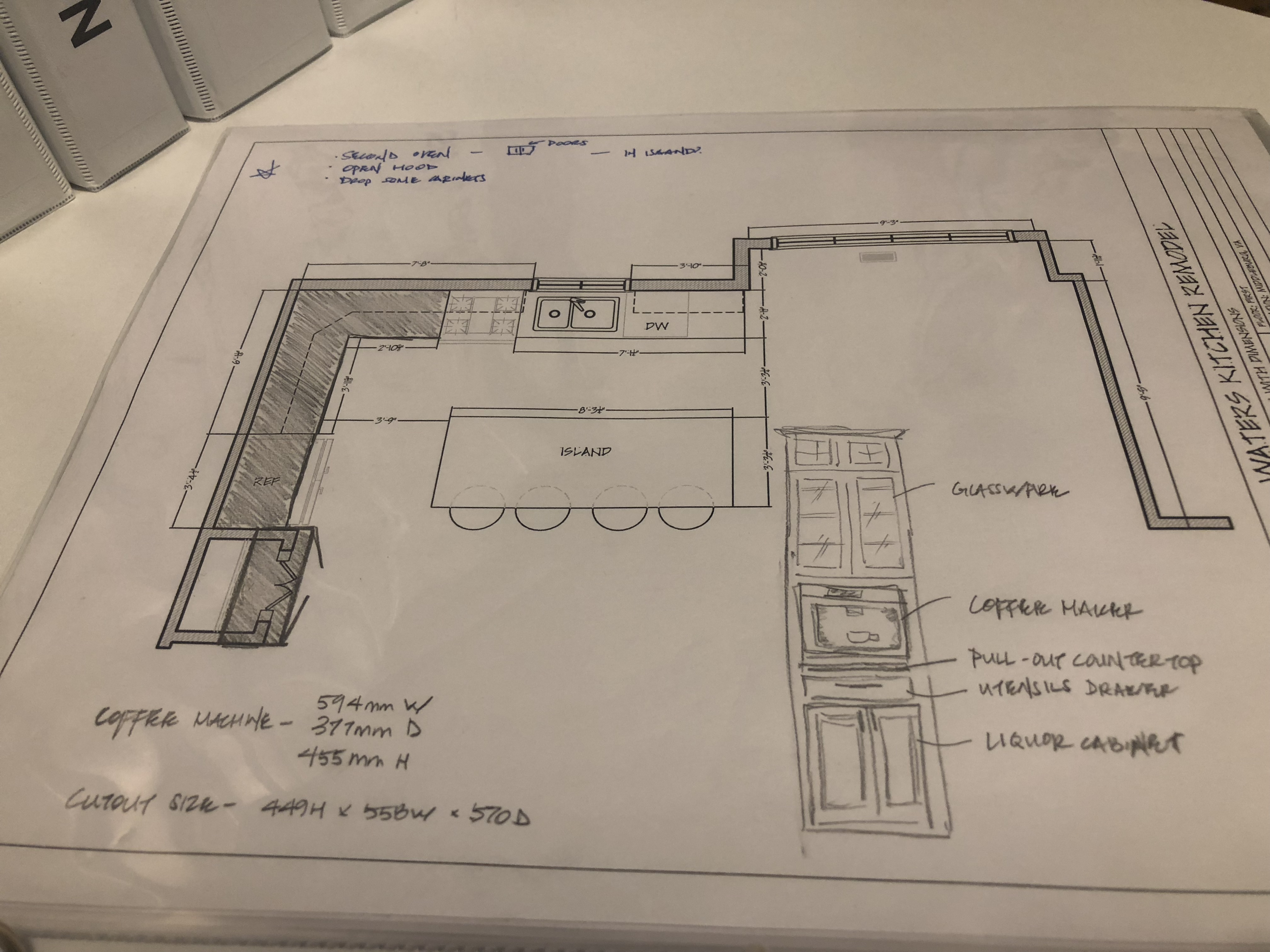 Hand Sketch of Cabinet