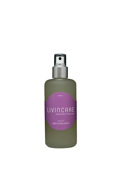 LIVINCARE Lotus - Körper & Geist Spray | Reines Licht | Chakra 7, 200ml