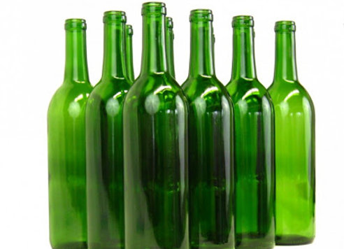 12 Green Glass Bottles 750ml
