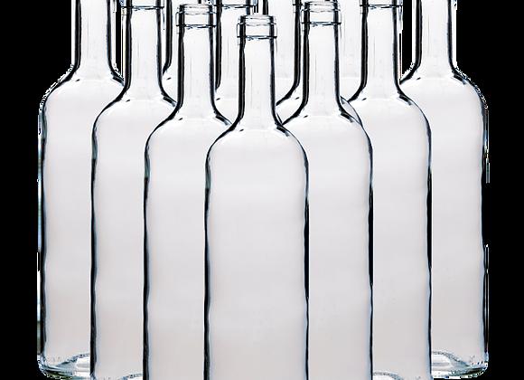 30 Clear Glass Bottles 750ml