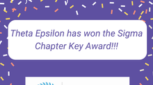 Theta Epsilon: Chapter Key Award Recipent!