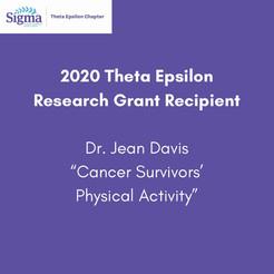 2020 Theta Epsilon Grant Recipient