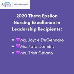 2020 Theta Epsilon Nursing Excellence in Leadership Recipients