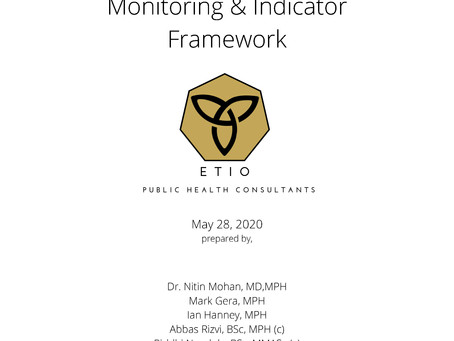 Initial Analysis of the COVID-19 Monitoring & Indicator Framework