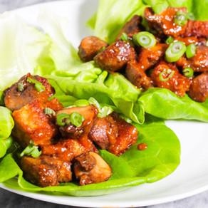 Miso Tempeh & Mushroom Lettuce Cups (vegan, gluten-free)