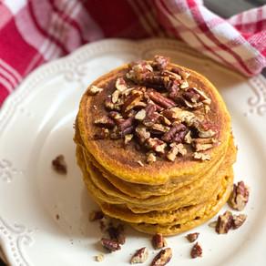 Pumpkin Spice Pancakes (paleo, gluten-free, dairy-free)