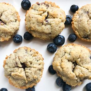 Mini Blueberry Pies (vegan, gluten-free)