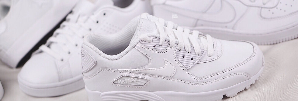 "NIKE AIR MAX 90 GS ""WHITE"""