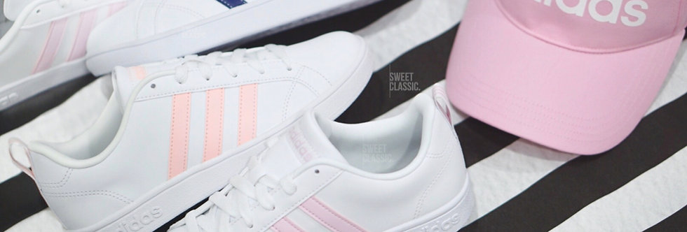 "adidas NEO Advantage Clean  ""Light Granite / Summer Pink / Mystery Navy"""