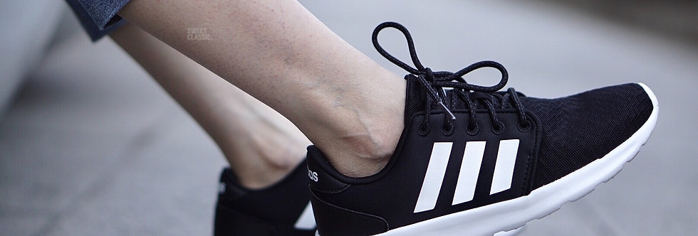 "adidas NEO Label Qt Racer ""Core Black-White"""