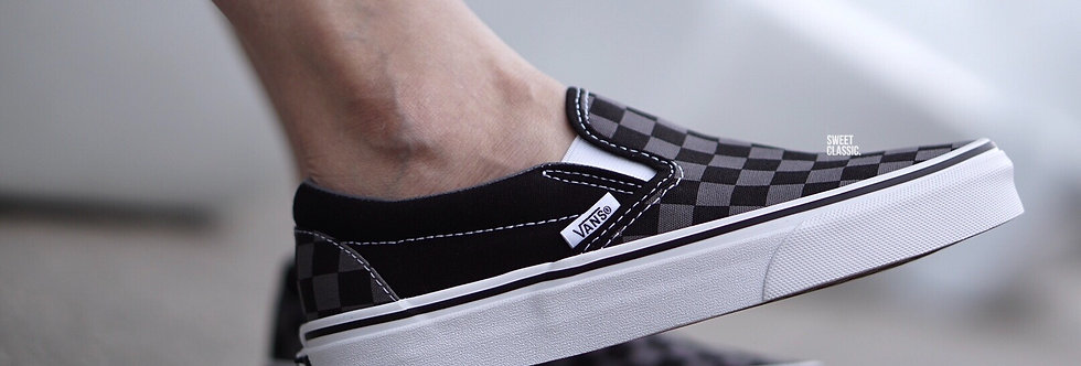 "Vans Slip On Classic ""Pewter Black-Checkerboard"""