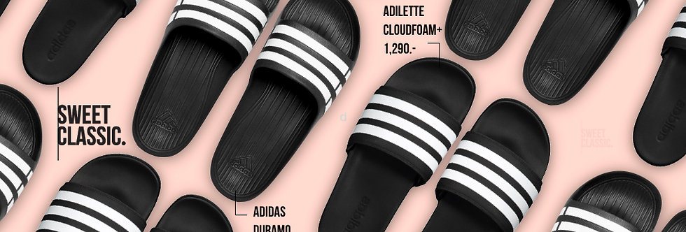 "adidas adilette Cloudfoam Plus ""Core Black/Running White"""
