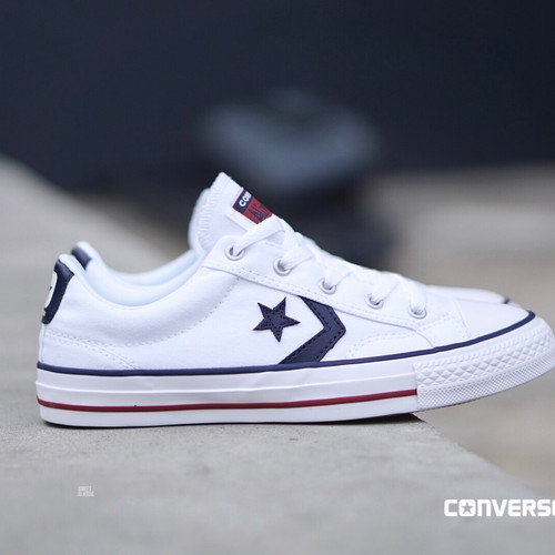"""99693dd21 Converse Cons-Remastered Star Player """"White-Navy"""""""