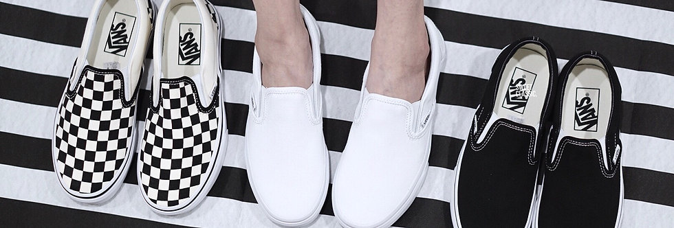 "Vans Slip On Classic ""True White / Black-White / Checkerboard"""