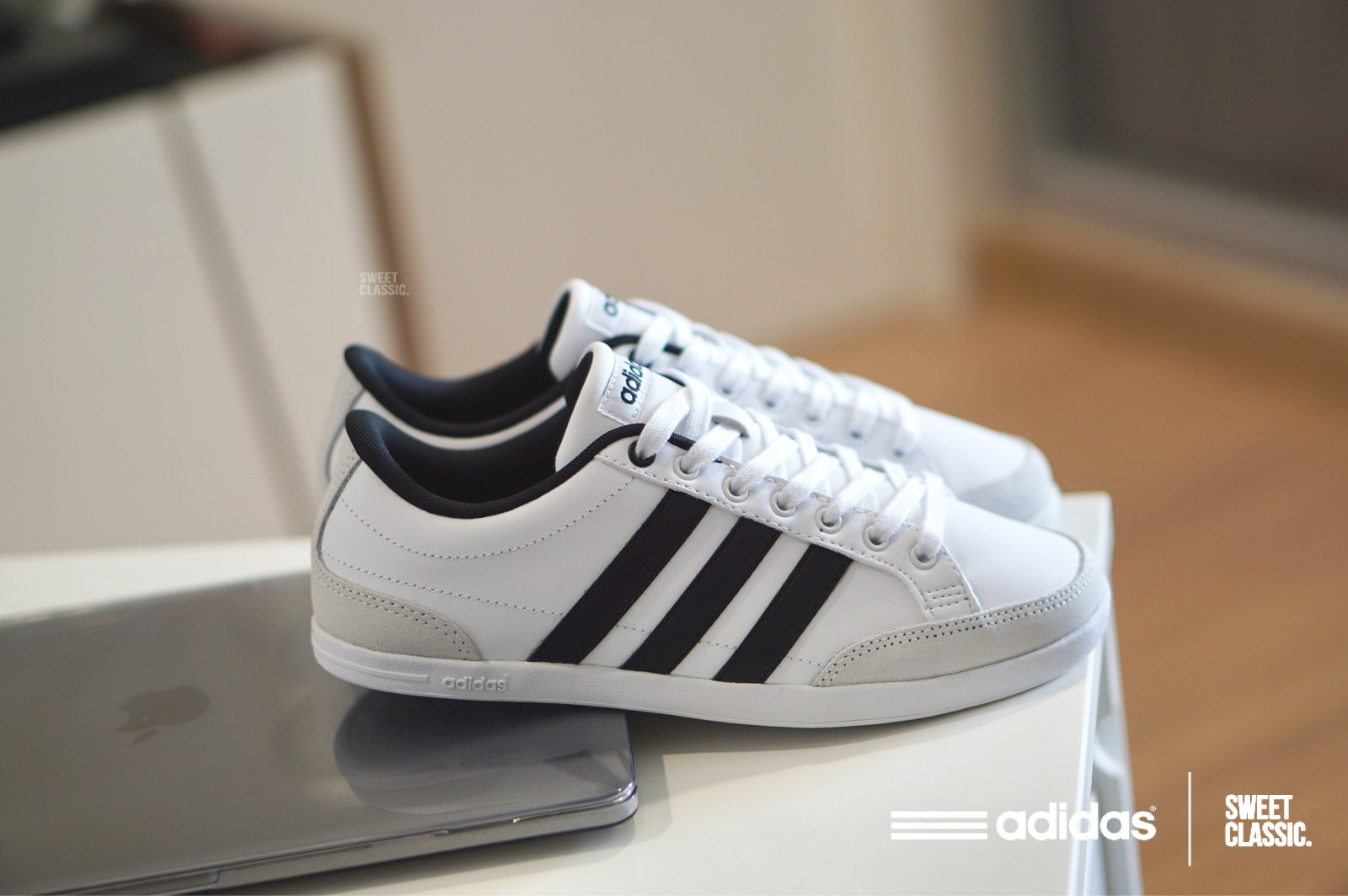 """adidas NEO Caflaire Lo """"Running White""""   sweetclassic"""