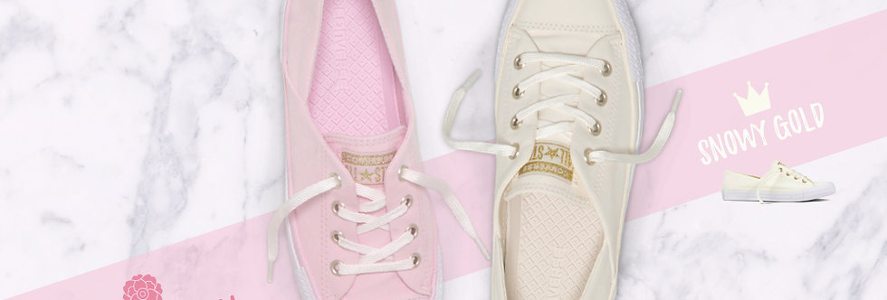 """Converse Chuck Taylor All Star Coral  """"Cherry Blossom Pink / Snowy Gold Egret"""""""
