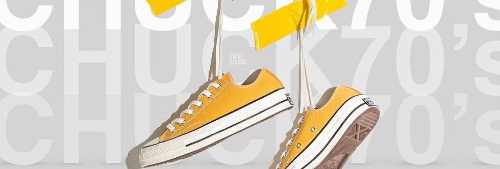 "Converse All Star Chuck 70's  ""Yellow / Parchment White / Classic Black"""