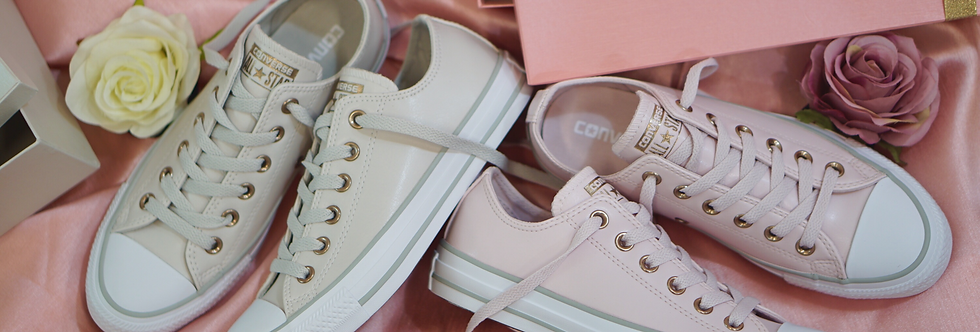 """Converse Chuck Taylor All Star Leather """"Barely Rose Pink / Pale Putty"""""""