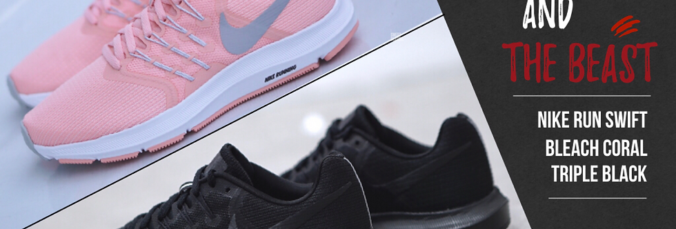 "NIKE RUN SWIFT ""BLEACHED CORAL / TRIPLE BLACK"""