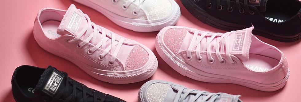 "Converse All Star Sugar Charms ""Blush Pink / Optical White / Black Mono / Grey"""