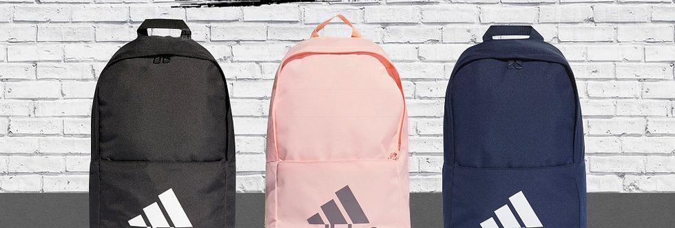 "adidas Classic Logo Backpack  ""Core Black / Pink-Night Metallic / Core Navy"""