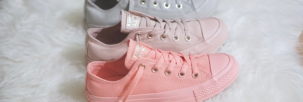 """Converse All Star Mono Glam  """"Pale Coral Pink / Particle Pink / Pale Grey"""""""
