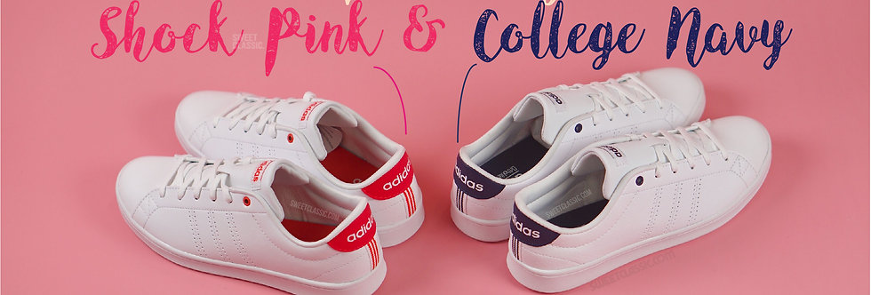"adidas NEO Advantage Clean QT ""Shock Pink // College Navy"""