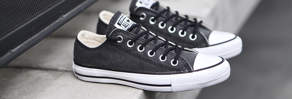 Converse Chuck Taylor All Star Stone Washed Black Low