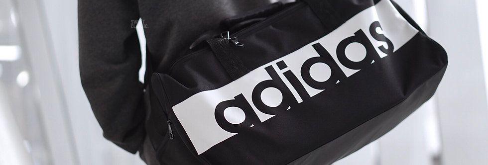 "adidas Linear Travel Bag ""Black-White"""