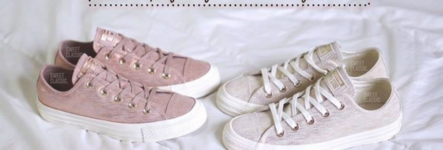 """Converse Chuck Taylor All Star Metallic  """" Rose Gold / Champagne Gold"""""""