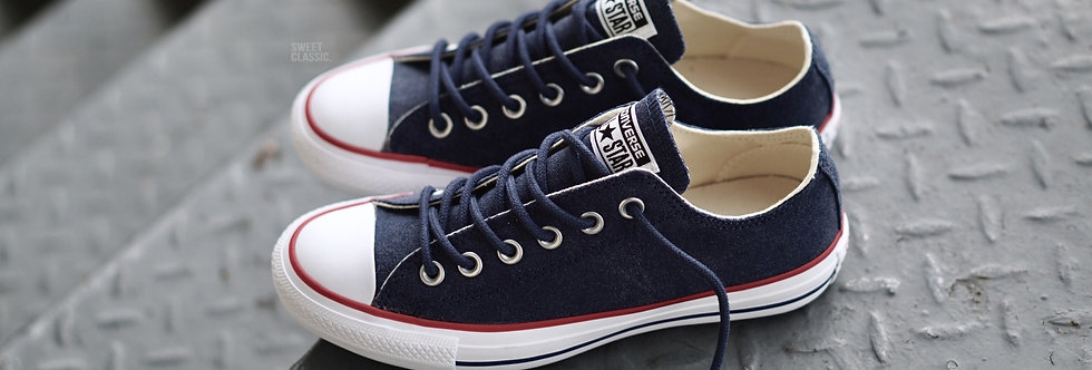 Converse Chuck Taylor All Star Stone Washed Mystery Navy Blue Low