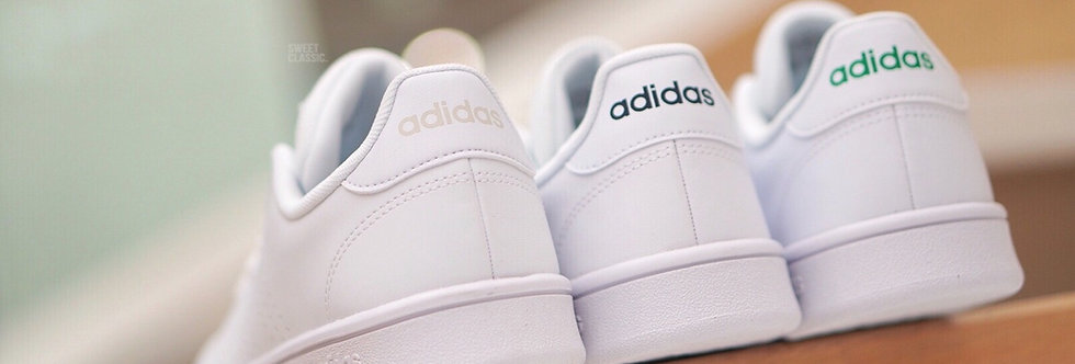 "adidas Advantage Base ""Raw White / Dark Navy / Original Green"""