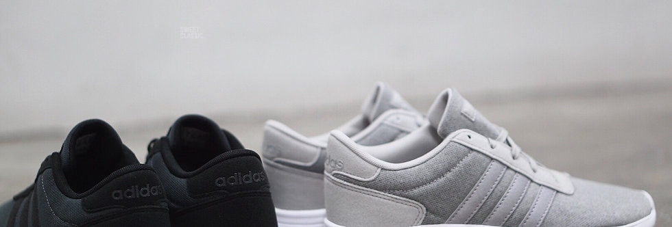 "adidas NEO Lite Racer K ""Grey Two-Silver Metallic"""