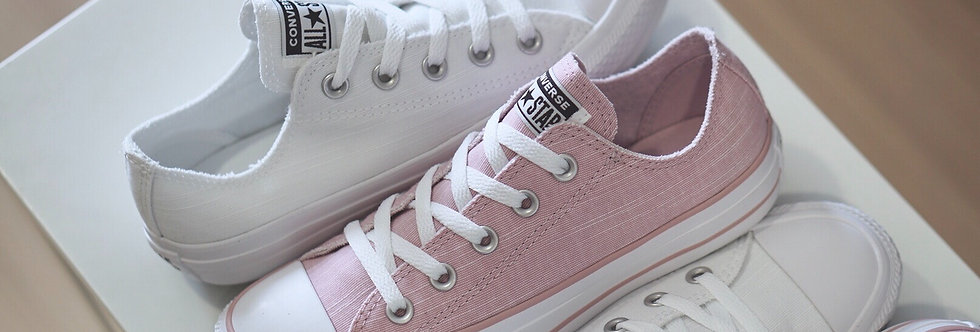 "Converse All Star Frayed Lines ""Chalk Pink / White"""