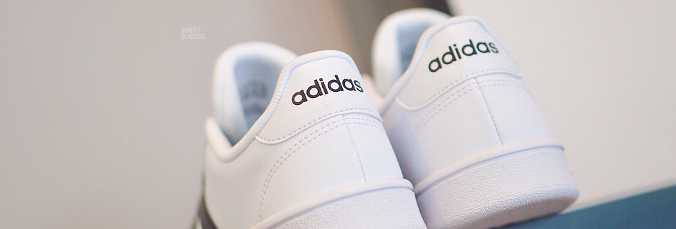 "adidas Grand Court Base ""White-Black Stripes"""