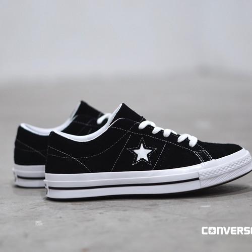 cebeb5f3d Converse One Star Premium Suede Black