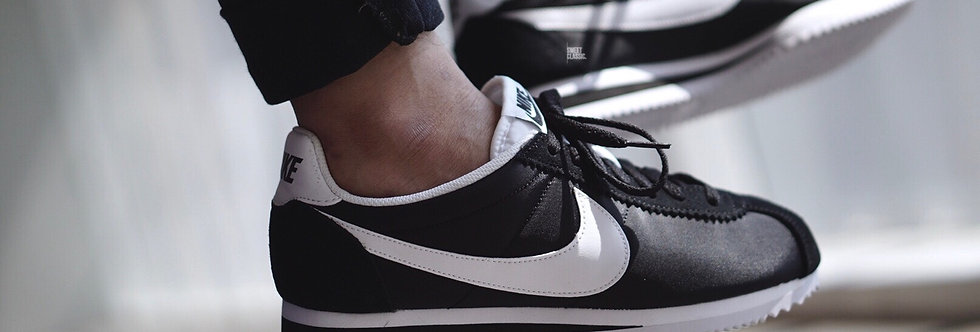 "NIKE CORTEZ NYLON ""BLACK-WHITE-011"""