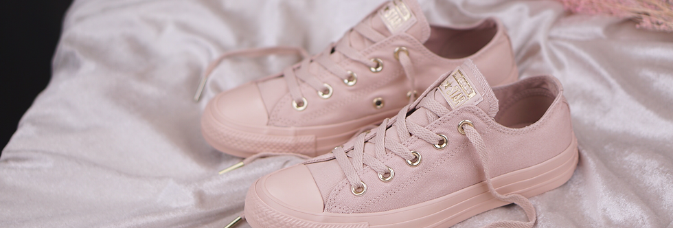 "Converse Chuck Taylor All Star Monoglam ""Particle Pink-Gold // Pale Grey-Gold """