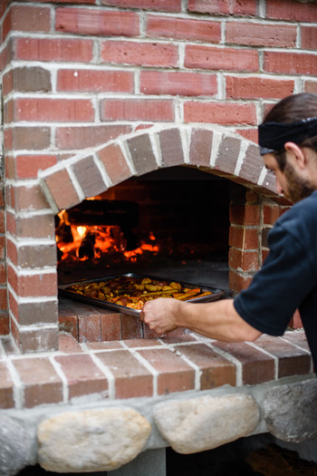 At the Wood Fired Oven