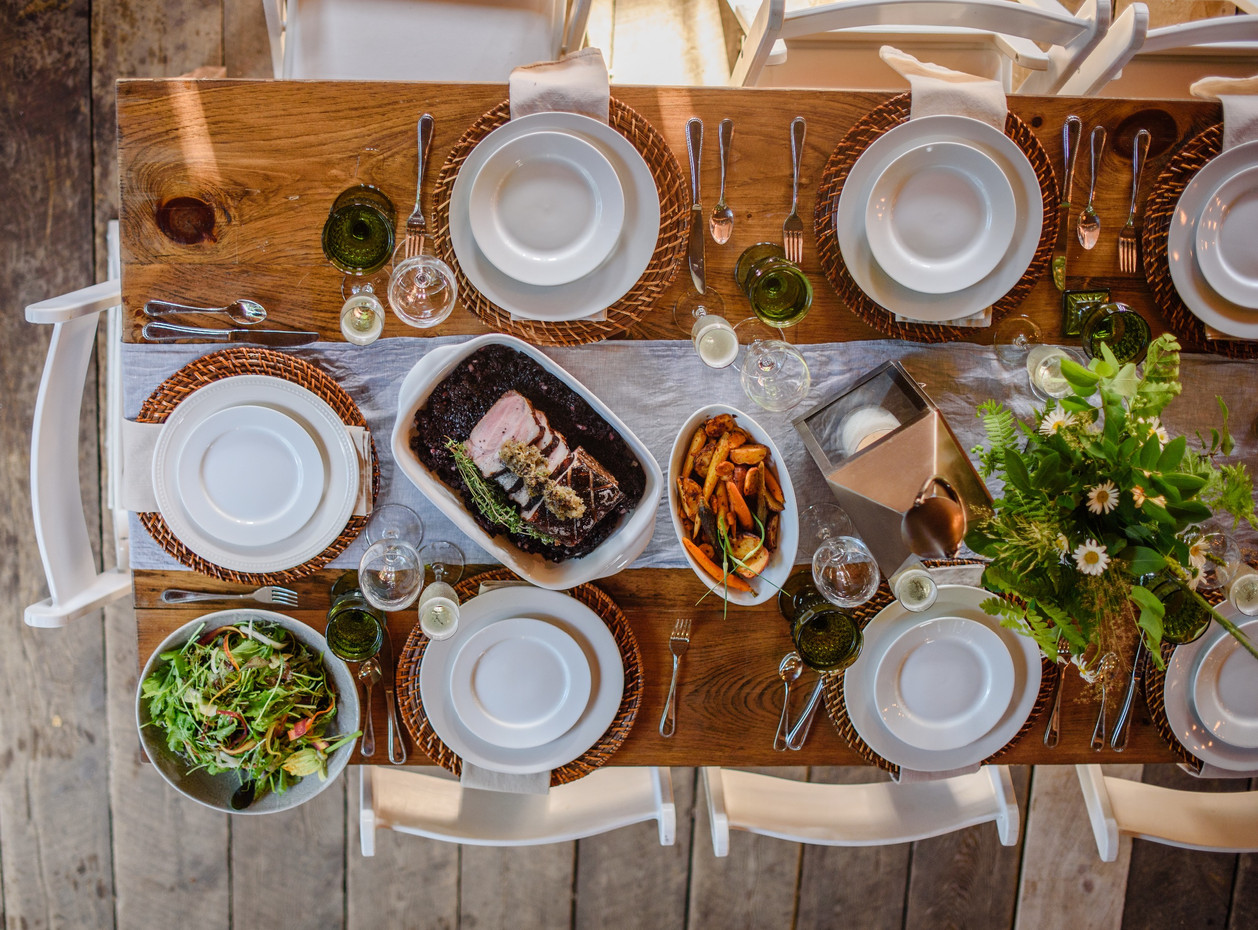 Family Style Table Scape