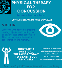 This Friday, 9/17/21, NJ Concussion Awareness Day - #NJPT4Concussion