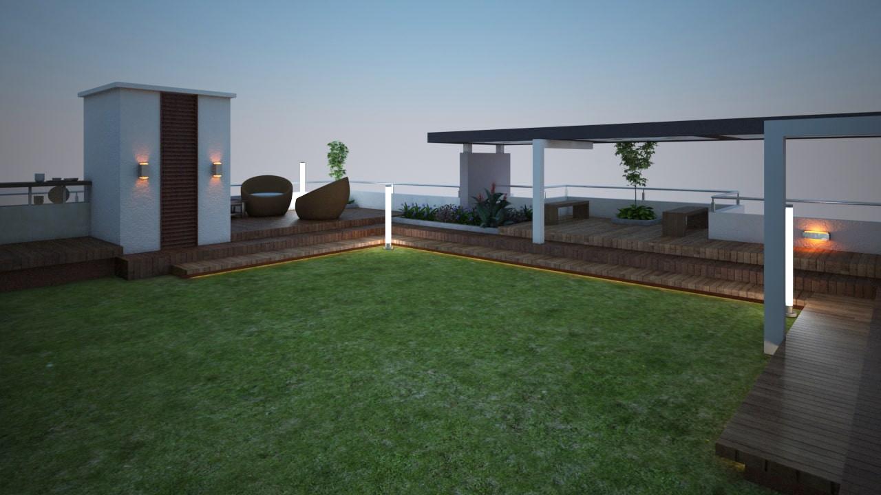 Yash Elina Terrace_Garden-_Sitout_Steps View -Kothrud