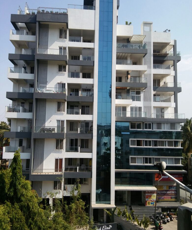 Yash Elina Elevation Actual View- Kothrud