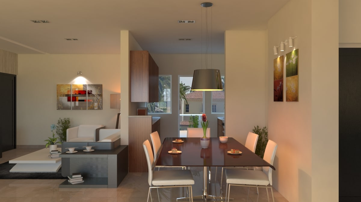 Yash Elina 3 & 3.5 BHK Dinning Room View