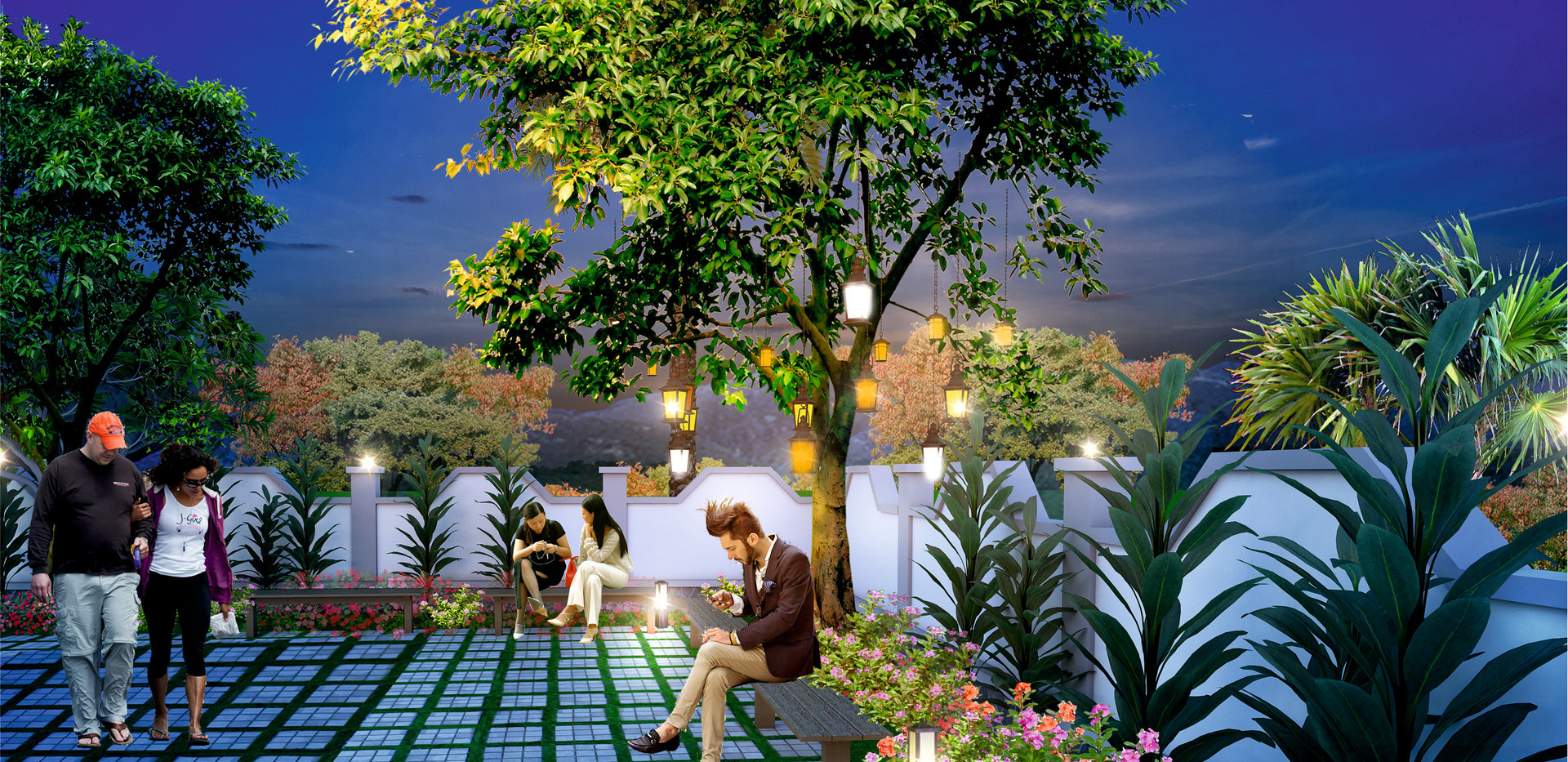 Yash Florencia lantern Garden View