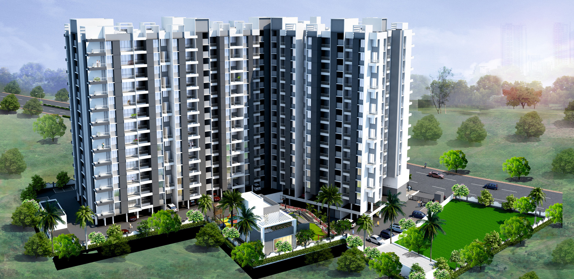 Yash Florencia Elevation Day View-Kondhwa