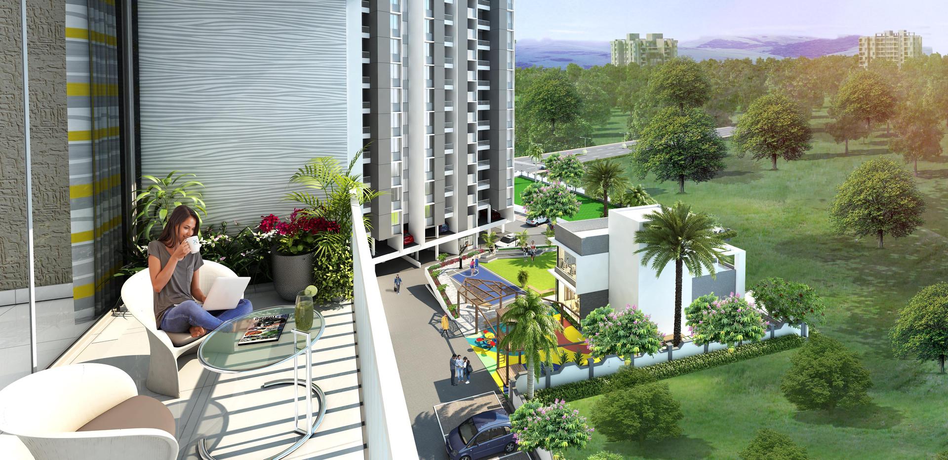 Yash Florencia-kondhwa-terrace View